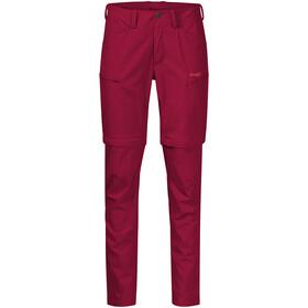 Bergans Utne Pantalon convertible avec fermeture éclair Femme, red